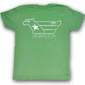 Washington-Federals-Logo-USFL-Logo-Men-039-s-Tee-Shirt-Kelly-Heather-Sizes-S-2XL