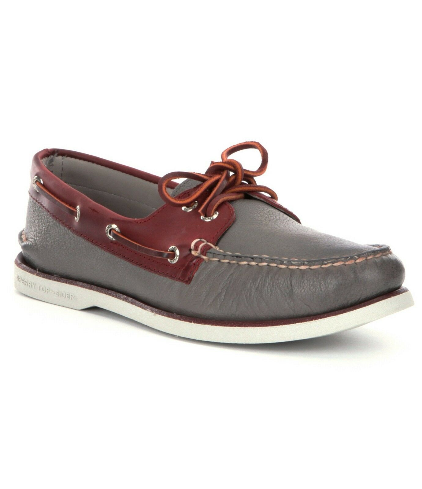 Men's Sperry Top-Sider gold CUP A O 2-Eye Boat shoes, STS11544 Size 8 Grey Bu