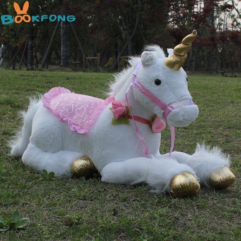 Soft Giant Plush Jumbo Large White Unicorn Toy Stuffed AnimalS Doll 33.5    85cm
