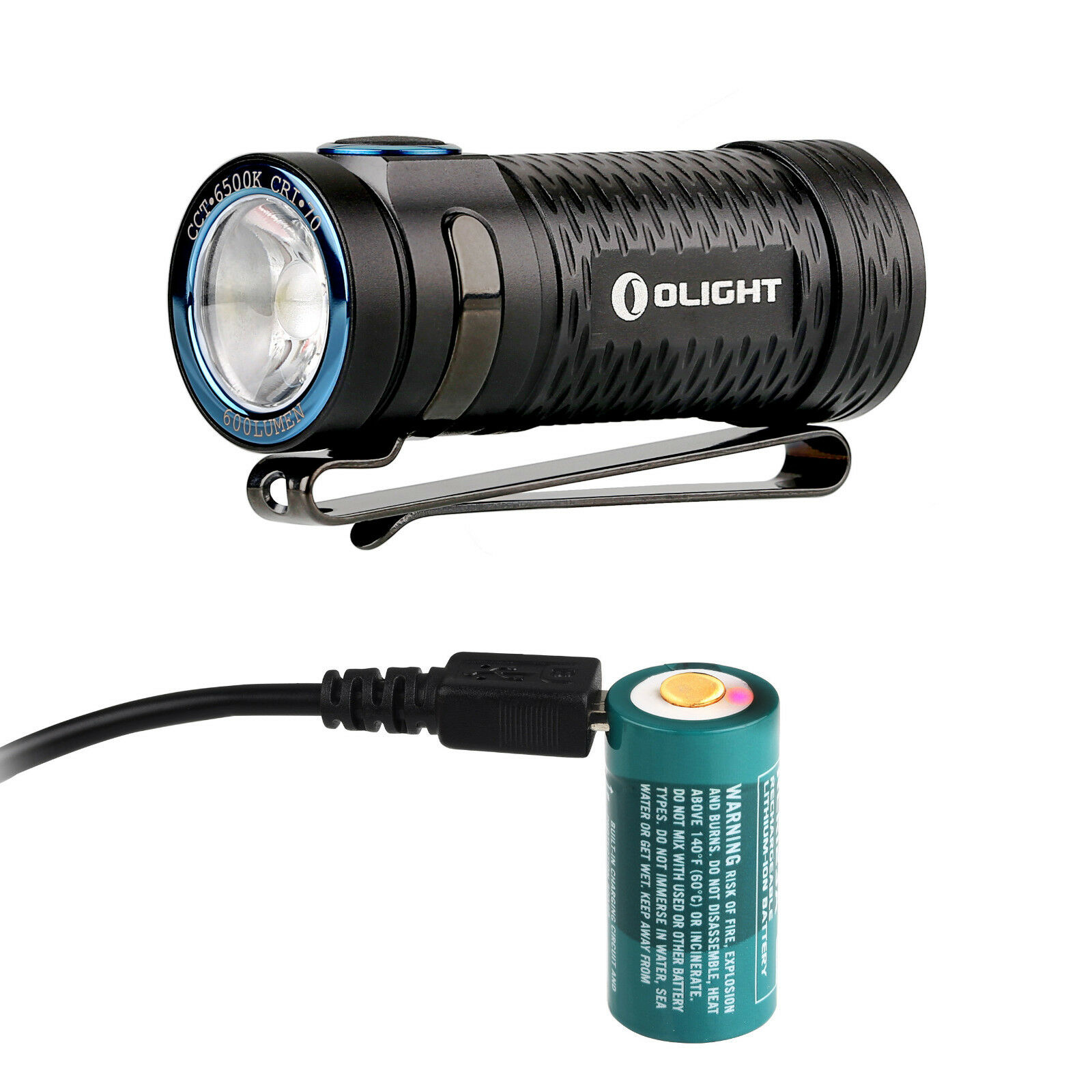 Olight S1 mini Baton  600lm Rechargeable LED Flashlight with battery, USB cable  with 100% quality and %100 service
