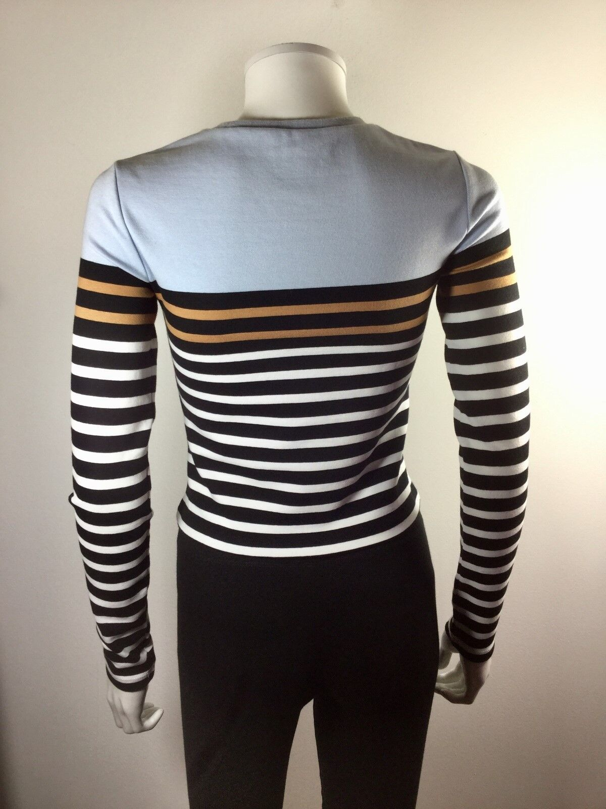 T ALEXANDER WANG bluee Striped Pull Over Cropped Sweater Sweater Sweater Size X Small c81627