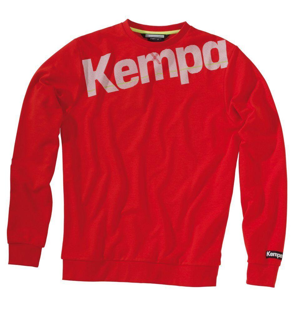 Kempa Da Uomo Core Felpa Maglione Top Sport Allenamento Casual Girocollo Rosso