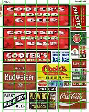 7022 DAVE'S DECALS COOTER'S LIQUOR AND BEER STORE SIGNAGE W/ ADVERTISING SIGNS