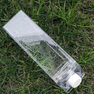2 Kitchen Leakproof Transparent Milk Water Bottle Outdoor Drinkware Unbreakable
