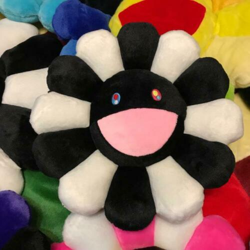 Takashi Murakami Rainbow Flower Black /&White 24inch Pillow IN Stock New