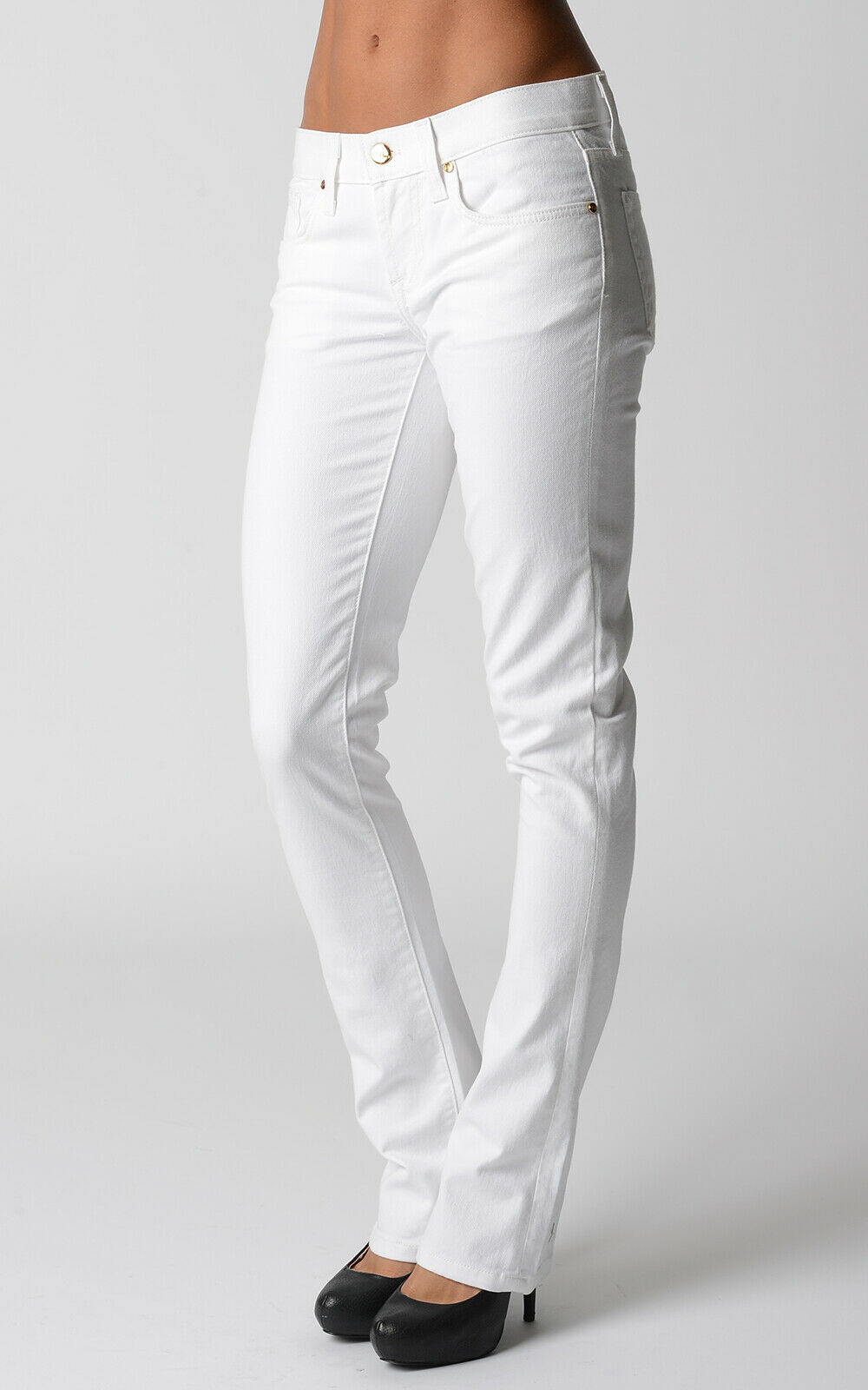 Ralph Lauren 380 Women's Stretch White Slim Fit Jeans Size 30 Gift For Her NWT