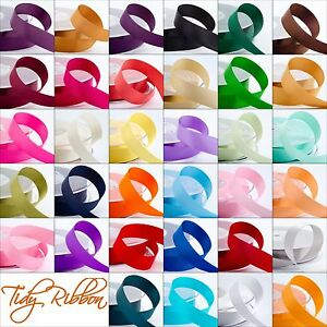 Satin-Ribbon-Double-Sided-Cut-Length-3mm-6mm-10mm-16mm-25mm-38mm-Crafts-Sewing
