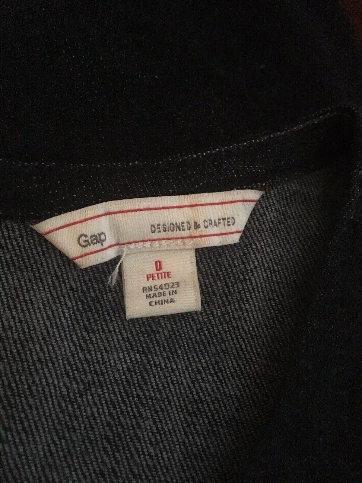 Gap Dark Wash Denim Jumper Dress Polka Dots Sz 0 … - image 5