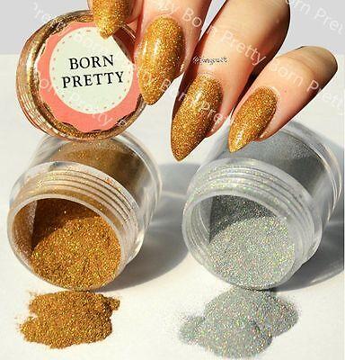 10g/Box Holo Holographic Chrome Glitter Dust Powder 3D Nail Art Decoration