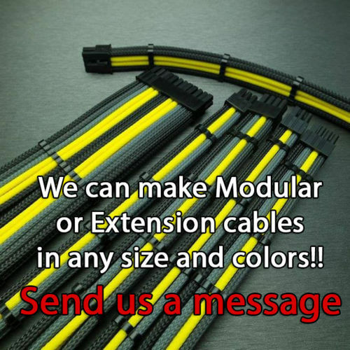 8 pin to 6+2 pin Pcie Black Sleeved Extension 30cm 2 Free cable Combs Shakmods