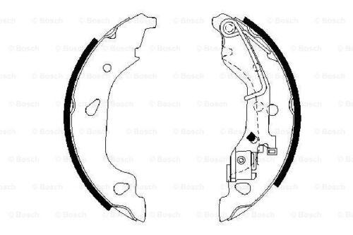 BOSCH Bremsbackensatz 0 986 487 596 für FIAT PUNTO 180 180mm hinten Van 16V 188