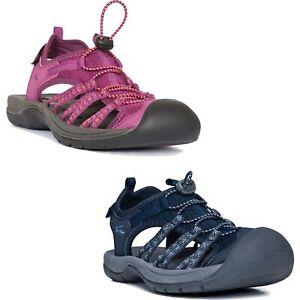 Trespass-Brontie-Womens-Purple-Sandals-Close-Toe-Summer-Shoes