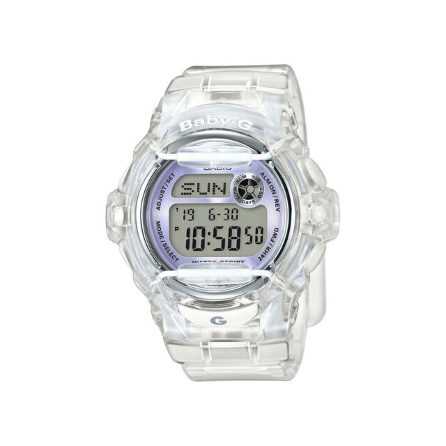 Casio Baby-G Womens Wrist Watch BG169R-7E BG-169R-7E Transparent Purple Accent