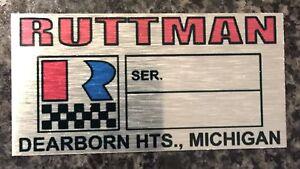 RUTTMAN MINI BIKE MOTOR PLATE ALUMINIUM. FREE TO HAVE 5 NUMBERS STAMPED TO PLATE