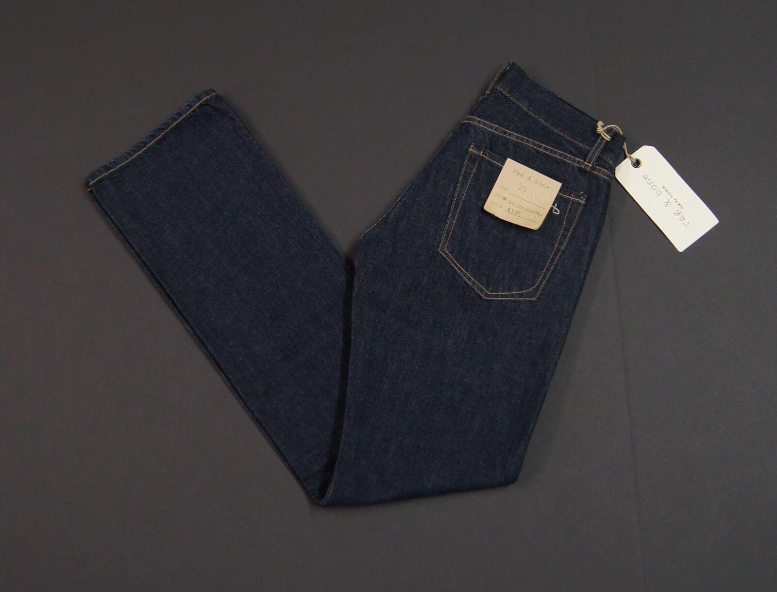 RAG & BONE RB 10X Classic Straight Leg Dark bluee Jeans NEW NWT