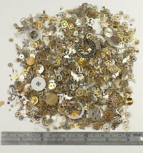 HUGE-PACK-100g-Watch-parts-STEAMPUNK-ALTERED-ART-CRAFTS-CYBERPUNK-cogs-gears