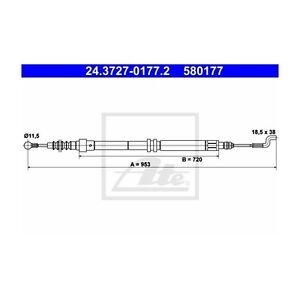 ATE-24-3727-0177-2-Seilzug-Feststellbremse-fuer-VW-Transporter-IV-Bus