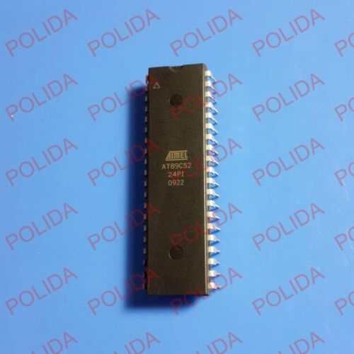 5PCS IC ATMEL DIP-40 AT89C52-24PI
