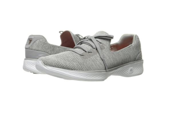 SKECHERS 14901/GRY GO WALK 4 -A.D.C Wmn's (M) Grey Textile Walking Shoes