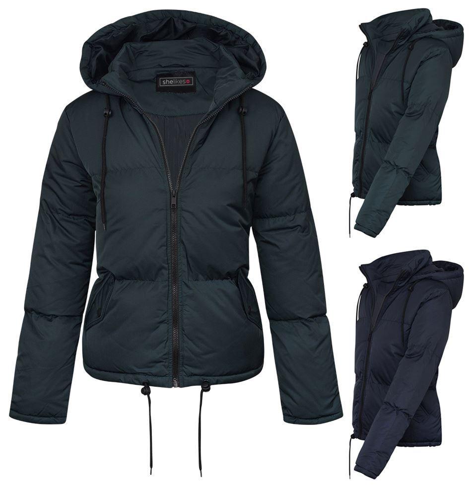 Veste légère d extérieur zippée à capuche pour femme en coton, décontractée Designer hiver 8-16