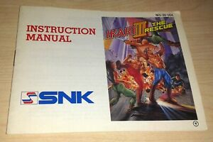 Ikari 3 III The Rescue NES Instruction Manual game guide booklet book