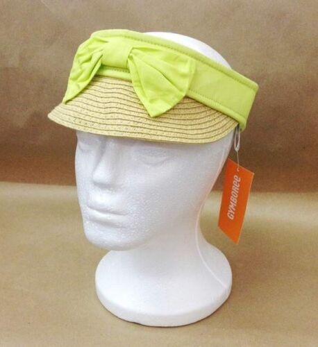 NWT Gymboree Girls Bright and Beachy Orange Or Lime Visor Sunhat Bow Size S M L