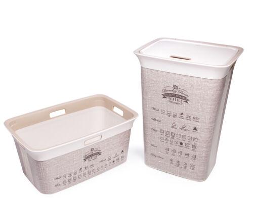 Ondis24 Wäschekorb Wäschetruhe Wäschesammler Moda Textile 45 & 60 Liter Set