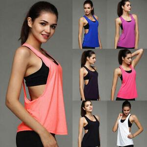 Women-Sports-Running-Fitness-Exercise-Jogging-Gym-Yoga-Vest-Tank-Singlet-Soft-ne