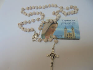 Peace Stone Rosary  of Our Lady of Medjugorje HANDMADE OF STONE HOLY SPIRIT