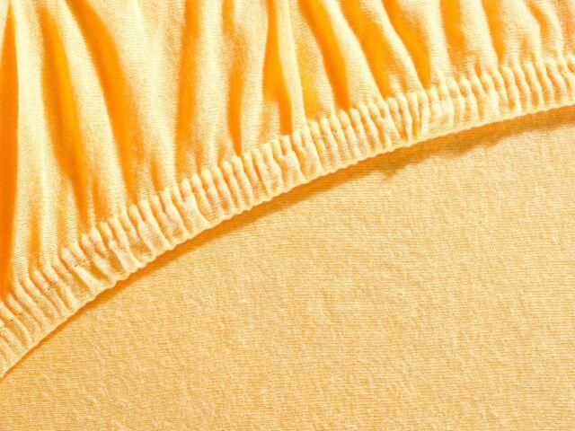 Baby Spann Betttuch 70x140 cm Jersey Baumwolle orange