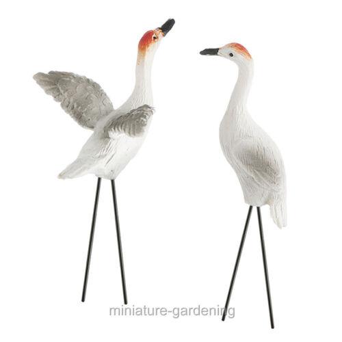 Sandhill Cranes 2 Piece Set for Miniature Garden Fairy Garden