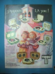 PUBLICITE-DE-PRESSE-TEPPAZ-ELECTROPHONE-APPORTE-LA-JOIE-FRENCH-AD-1959