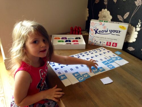 Know Your Times Tables Maths Game Kids Home Learning System Help Fun Unique