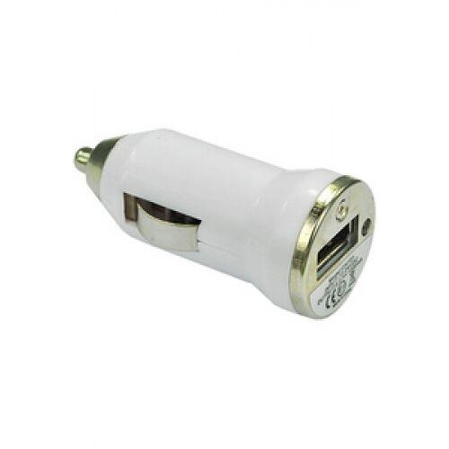 White USB Car Charger for HTC HD7 Desire Z  Incredible S  HD mini HD2 mini
