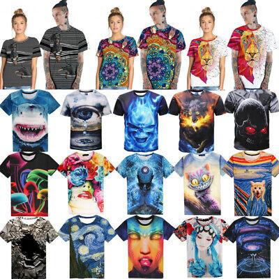 3D Vision Printed Stylish Men/'s T-Shirts Clothing Casual Short Sleeve Silk Tops