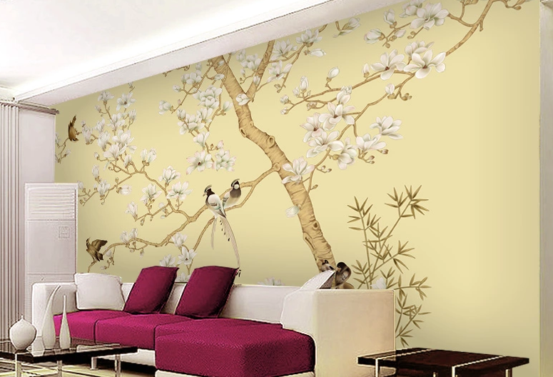 3D Tree Flowers Birds 9 Wall Paper wall Print Decal Wall Deco Wall Indoor Murals