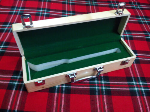 Bagpipe Bombard Chanter Rosewood With Wooden Hard Case// Bombard Chanter