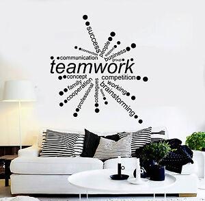 Vinyl-Wall-Decal-Teamwork-Words-Office-Decor-Business-Stickers-ig4342