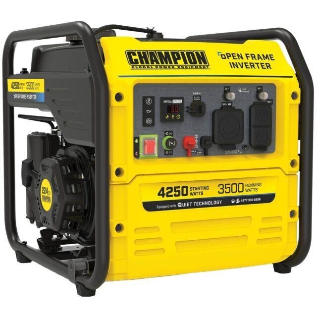 Champion 200955 - 3500 Watt RV-Ready Open Frame Inverter Generator w/ Quiet T...