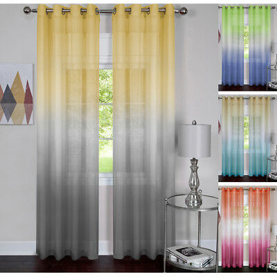 Humoristisch Window 2-pack Panel Curtain Rainbow Multi-color Semi-sheer Light Filter Panel