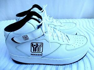 3956b2916aab Image Is Loading Nikken Weighted Leather Hightop Workout Exercise Shoes Sz