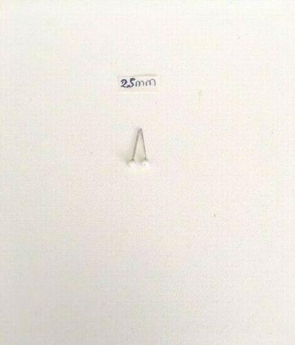 Ohrringe Ohrstecker 925 Sterlingsilber Matt//Poliert 5mm-2.5mm Kugel NEU