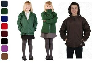 Boys-Girls-Fleece-Reversible-Jacket-Winter-Warm-School-Uniform-Waterproof