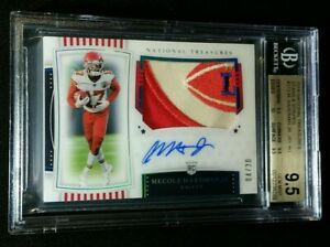 BGS 9.5/10 1/1 MECOLE HARDMAN RC AUTO *STARS STRIPES /20 2019 National Treasures