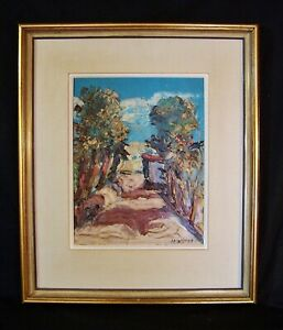 Antique-Vtg-ORIG-Oil-Painting-HARRY-HERING-Framed-Landscape-c1920-LISTED-ARTIST