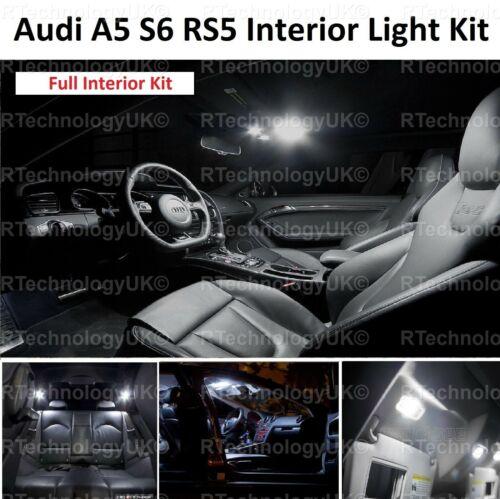 BRAND NEW AUDI B8 A5 S5 RS5 Interior LED Bulbs Kit XENON WHITE INTERIOR LIGHTS