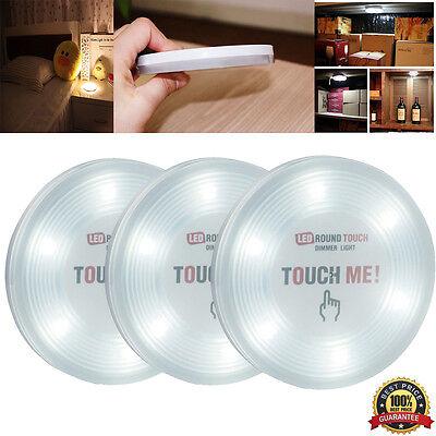 3x  Kitchen Under Cabinet Cupboa Closet Light 6 LED Ultra Bright Lamps Stick on