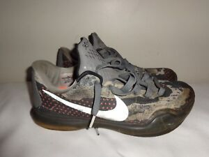 26e06cacfa5 Nike Kobe 10 X Pain Mens 705317-001 Tumbled Grey Basketball Shoes ...