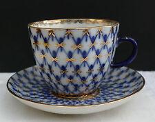 "Porzellan Kaffee - Mokkatasse Lomonosov Russia Petersburg "" Netzdekor "" Nr. 249"