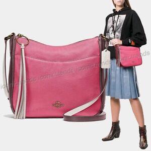 NWT-COACH-38696-B4QUK-Colorblock-Chaise-Crossbody-Pebble-Leather-Confetti-Pink